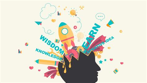 Cartoon Animation Design of Knowledge, Stock Footage Video (100% Royalty-free