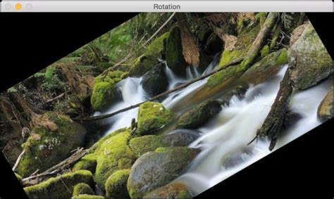 Image rotation - OpenCV with Python By Example