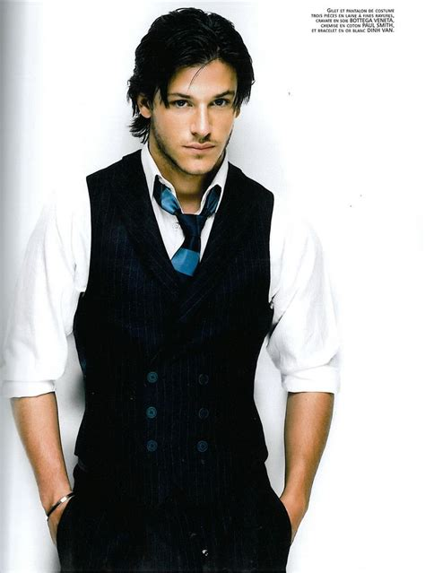 Omg, I looooove Gaspard Ulliel! Cute little scar on his face from a dog attack (I